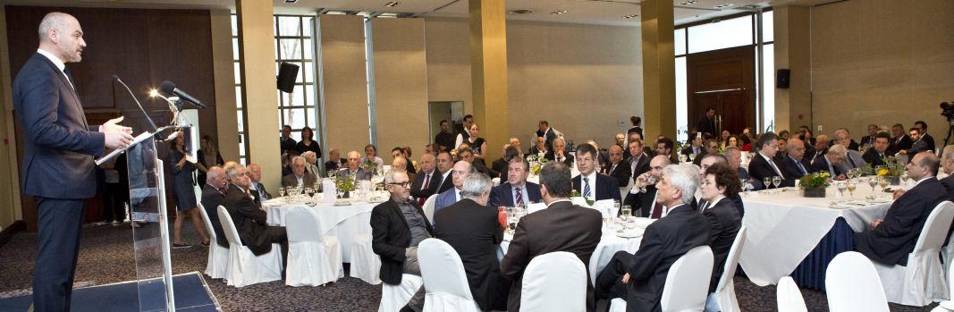 Γεύμα προς τιμή του Διοικητή της Τράπεζας της Ελλάδος κ. Γ. Στουρνάρα