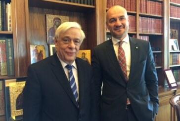 Συνάντηση του Προέδρου του ΣΒΒΕ με τον Πρόεδρο της Ελληνικής Δημοκρατίας, κ. Προκόπη Παυλόπουλο. Η συνεχιζόμενη αβεβαιότητα στην οικονομία οδηγεί σε αδιέξοδο τη χώρα