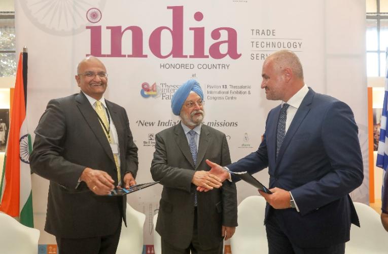 Νέες προοπτικές συνεργασίας με  την αγορά της Ινδίας - Υπογραφή μνημονίου συνεργασίας μεταξύ του Συνδέσμου Βιομηχανιών Ελλάδος και του Confederation of Indian Industry (CII)