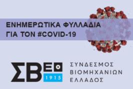 ΣΒΕ: Ενημέρωση των βιομηχανικών επιχειρήσεων της περιφέρειας για την αποφυγή της διάδοσης του Κορονοϊού COVID 19, στους χώρους εργασίας
