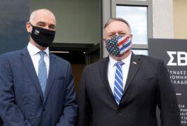 Επίσκεψη Υπουργού Εξωτερικών των ΗΠΑ, κ. Mike Pompeo, στη Θεσσαλονίκη - Ο Mike Pompeo και η Αμερικανική Πρεσβεία στα νέα γραφεία του ΣΒΕ
